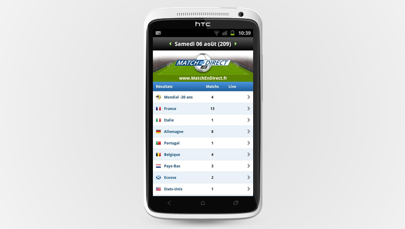 Application gratuite Livescore Foot sur Google Play