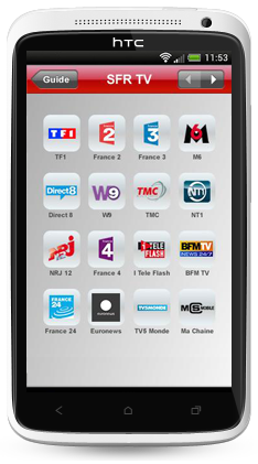 tv en direct avec sfr mobile sur smartphone et tablette. Black Bedroom Furniture Sets. Home Design Ideas